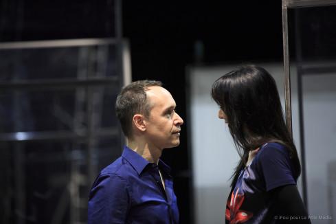 Maria de Medeiros (Line) et Manuel Blanc (Paul) dans Les Bêtes ® Ifou pour le Pole media
