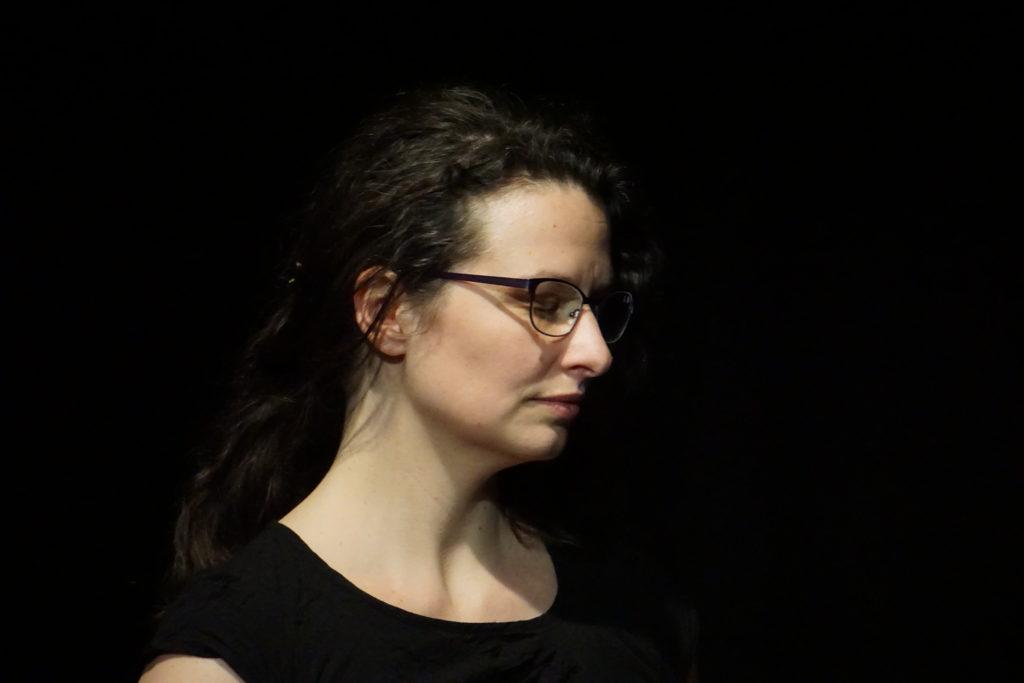 Alexia Vidal lors de sortie plateau d'À nos corps défendus.